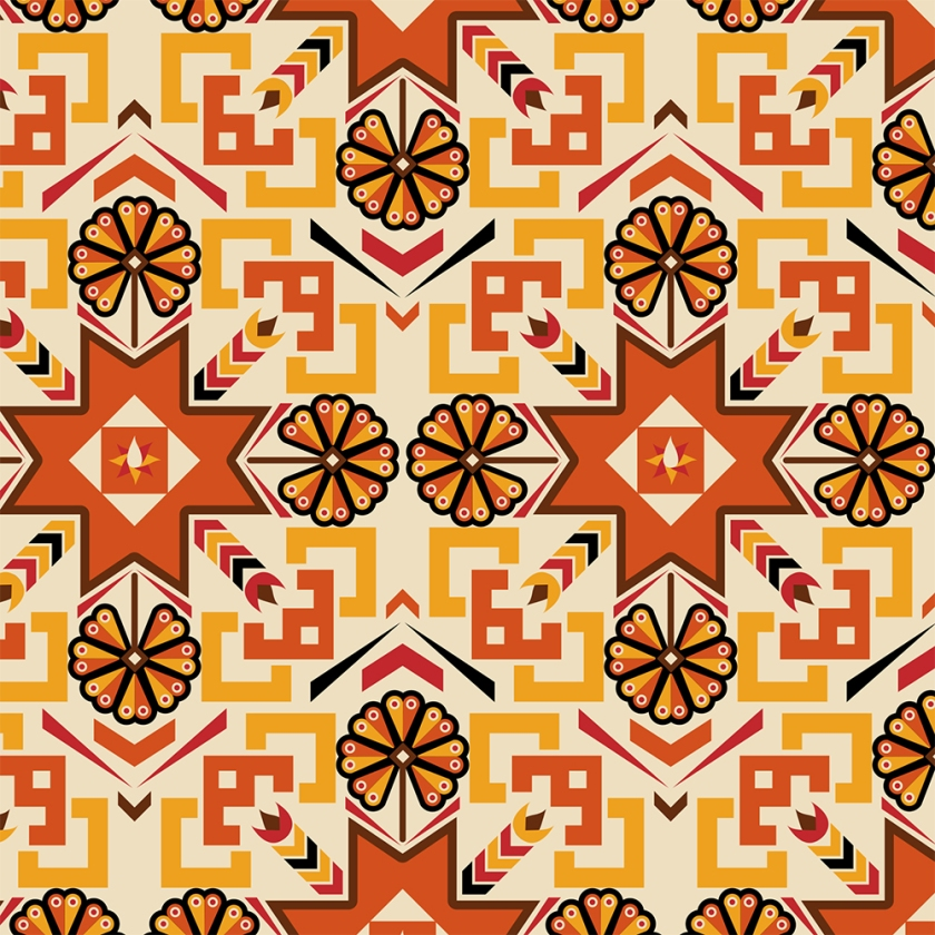 Digital Fabrics_Tribal Boho_Burnt Orange